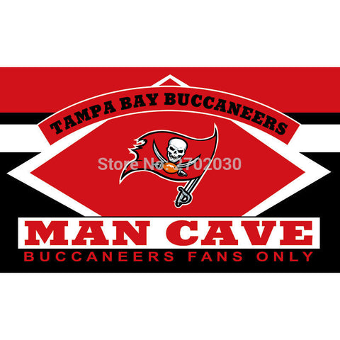 Tampa Bay Buccaneers Fans Only Flag MAN CAVE Flag 3ft X 5ft,  [product_collection], DEFINITE Sporting Goods, [product_tags]- DEFINITE Sporting Goods