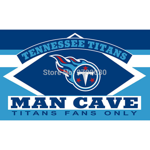 Tennessee Titans Fans Only Flag MAN CAVE Flag 3ft X 5ft,  [product_collection], DEFINITE Sporting Goods, [product_tags]- DEFINITE Sporting Goods