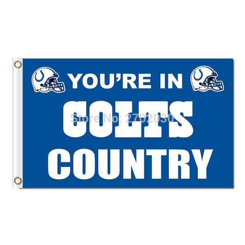 NFL You are in colts country Indianapolis Colts Flag 3x5 Feet,  [product_collection], DEFINITE Sporting Goods, [product_tags]- DEFINITE Sporting Goods