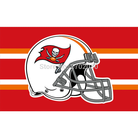 Helmet Tampa Bay Buccaneers Flag 3x5 Ft,  [product_collection], DEFINITE Sporting Goods, [product_tags]- DEFINITE Sporting Goods