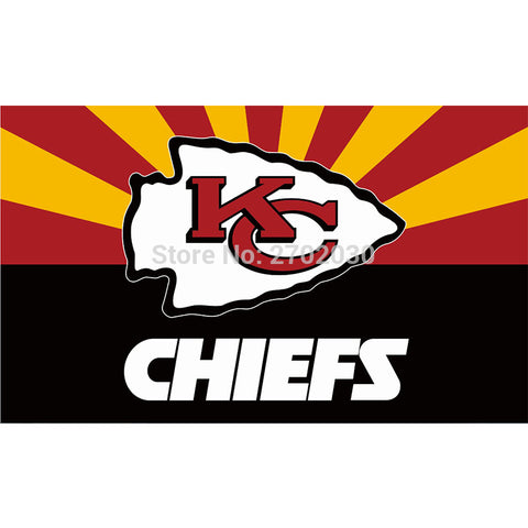 NFL Kansas City Chiefs Logo Flag 3x5 Feet,  [product_collection], DEFINITE Sporting Goods, [product_tags]- DEFINITE Sporting Goods