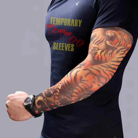 2pcs Fake Tattoo Elastic Arm Sleeve,  [product_collection], DEFINITE Sporting Goods, [product_tags]- DEFINITE Sporting Goods
