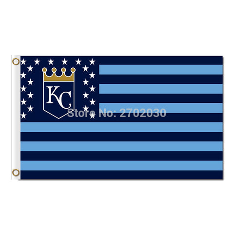 KC Kansas City Royals USA Flag 3X5 Feet,  [product_collection], DEFINITE Sporting Goods, [product_tags]- DEFINITE Sporting Goods