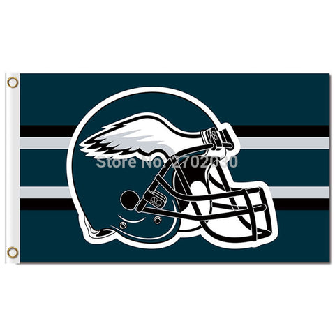 NFL Philadelphia Eagles Helmet Flag 3x5 Feet,  [product_collection], DEFINITE Sporting Goods, [product_tags]- DEFINITE Sporting Goods