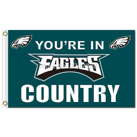 NFL YOU'RE IN EAGLES COUNTRY Philadelphia Eagles Flag 3x5 Feet,  [product_collection], DEFINITE Sporting Goods, [product_tags]- DEFINITE Sporting Goods