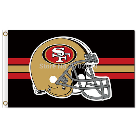 NFL San Francisco 49ers Helmet Flag 3x5 Feet,  [product_collection], DEFINITE Sporting Goods, [product_tags]- DEFINITE Sporting Goods