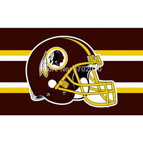 NFL Washington Redskins Helmet Flag 3x5 Feet,  [product_collection], DEFINITE Sporting Goods, [product_tags]- DEFINITE Sporting Goods