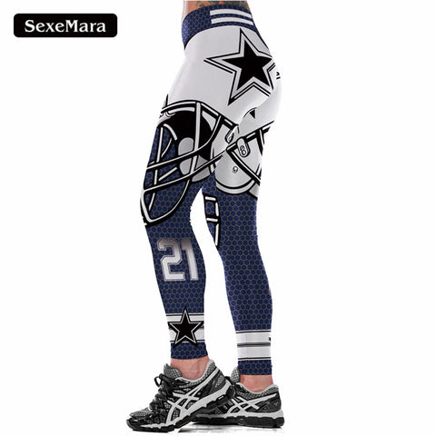NFL Dallas Cowboys Fitness Leggings,  [product_collection], DEFINITE Sporting Goods, [product_tags]- DEFINITE Sporting Goods