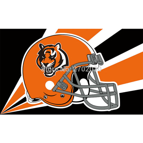 Cincinnati Bengals Helmet Flag 3x5 Feet,  [product_collection], DEFINITE Sporting Goods, [product_tags]- DEFINITE Sporting Goods