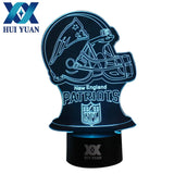 New England PATRIOTS 3D Visual Night Lights for Kids,  [product_collection], DEFINITE Sporting Goods, [product_tags]- DEFINITE Sporting Goods