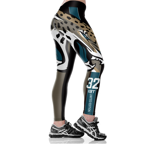 NFL Jacksonville Jaguars Fitness Leggings,  [product_collection], DEFINITE Sporting Goods, [product_tags]- DEFINITE Sporting Goods