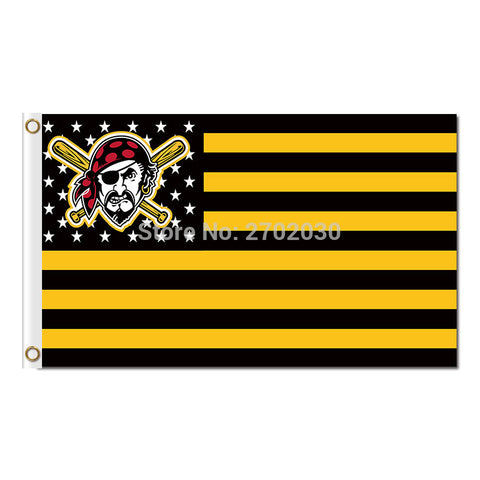Pittsburgh Pirates USA #2 Flag 3X5 Feet,  [product_collection], DEFINITE Sporting Goods, [product_tags]- DEFINITE Sporting Goods