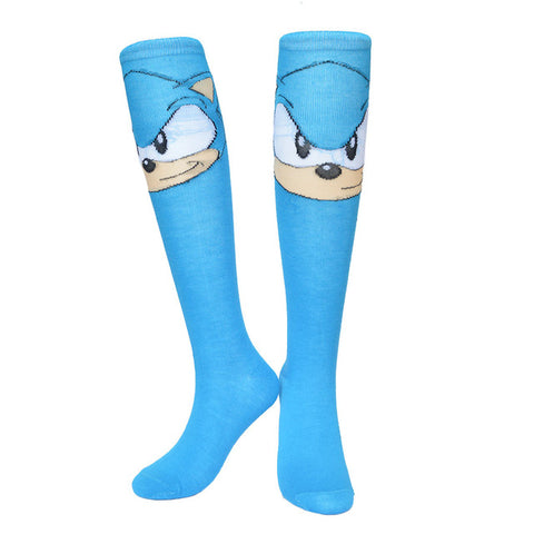 Sonic The Hedgehog Women Socks Cotton Knee High,  [product_collection], DEFINITE Sporting Goods, [product_tags]- DEFINITE Sporting Goods