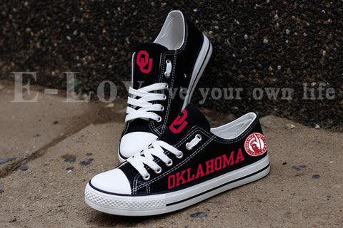 Oklahoma Sooners Women's Canvas Shoes,  [product_collection], DEFINITE Sporting Goods, [product_tags]- DEFINITE Sporting Goods