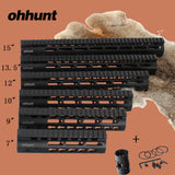 "ohhunt Hunting Tactical AR-15 Rail NSR 7"" 9"" 10"" 12"" 13.5"" 15"" Rail KeyMod Handguard Picatinny Rail with Steel Barrel Nut,  [product_collection], DEFINITE Sporting Goods, [product_tags]- DEFINITE Sporting Goods"