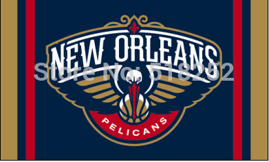 New Orleans Pelicans Column Flag 3x5 FT,  [product_collection], DEFINITE Sporting Goods, [product_tags]- DEFINITE Sporting Goods