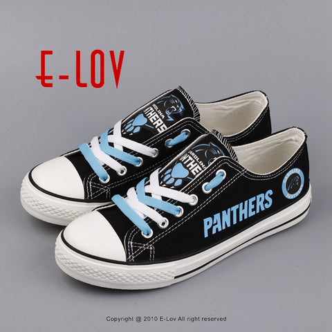 Carolina Panthers NFL Black Canvas Shoes,  [product_collection], DEFINITE Sporting Goods, [product_tags]- DEFINITE Sporting Goods