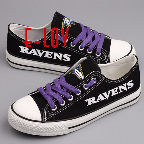 Baltimore Ravens NFL Black Canvas Shoes,  [product_collection], DEFINITE Sporting Goods, [product_tags]- DEFINITE Sporting Goods