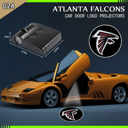 ATLANTA FALCONS 2pc WIRELESS LED CAR DOOR PROJECTORS,  [product_collection], DEFINITE Sporting Goods, [product_tags]- DEFINITE Sporting Goods
