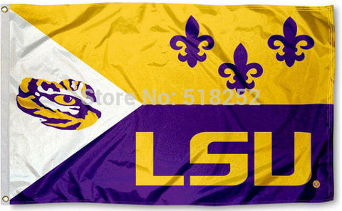 LSU ACADIAN Flag 3x5 FT,  [product_collection], DEFINITE Sporting Goods, [product_tags]- DEFINITE Sporting Goods