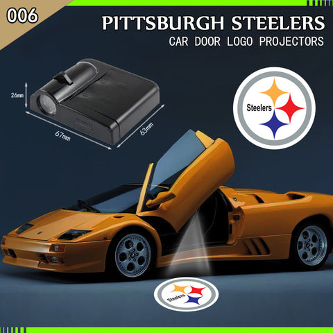 Pittsburgh Steelers  2pc WIRELESS LED CAR DOOR PROJECTORS,  [product_collection], DEFINITE Sporting Goods, [product_tags]- DEFINITE Sporting Goods