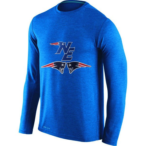 Men's New England Patriots Long Sleeve O-neck T-Shirt NFL,  [product_collection], DEFINITE Sporting Goods, [product_tags]- DEFINITE Sporting Goods