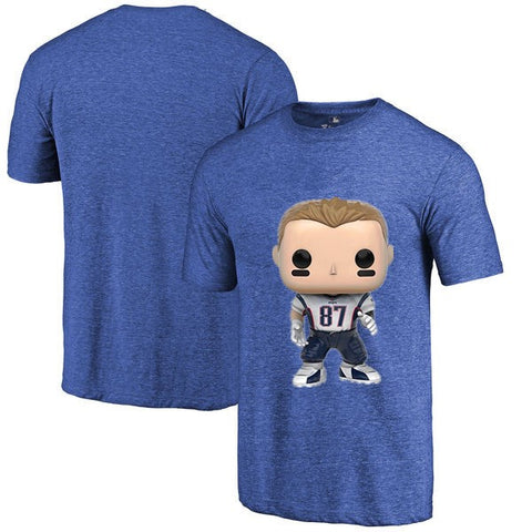 New England Patriots NFL Rob Gronkowski Cartoon T Shirt,  [product_collection], DEFINITE Sporting Goods, [product_tags]- DEFINITE Sporting Goods
