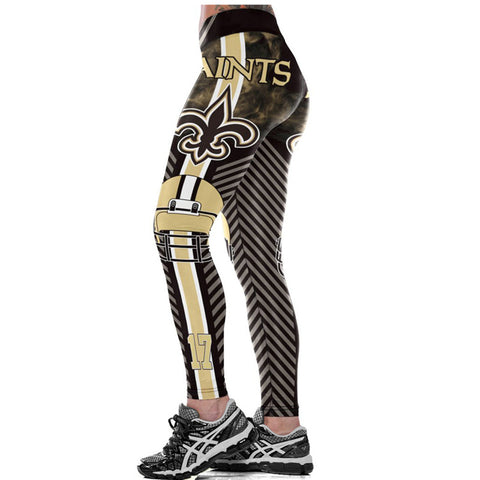 NEW ORLEANS SAINTS NFL LEGGINGS 2017,  [product_collection], DEFINITE Sporting Goods, [product_tags]- DEFINITE Sporting Goods