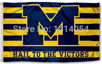 University of Michigan Wolverines Hail To The Victors Flag 3x5ft,  [product_collection], DEFINITE Sporting Goods, [product_tags]- DEFINITE Sporting Goods