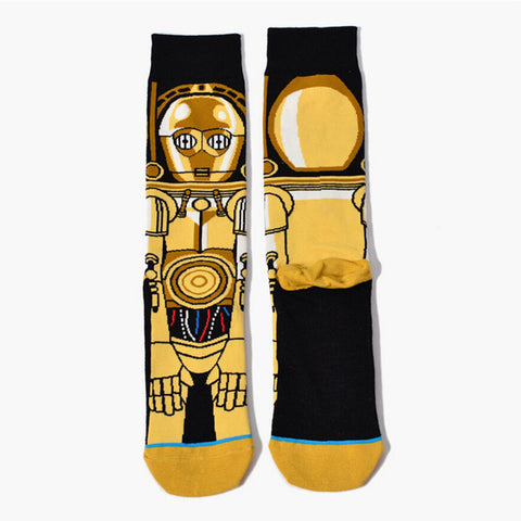 C-3PO Star Wars Socks for Men,  [product_collection], DEFINITE Sporting Goods, [product_tags]- DEFINITE Sporting Goods