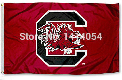 South Carolina Fighting Gamecocks University Flag NCAA 3X5FT,  [product_collection], DEFINITE Sporting Goods, [product_tags]- DEFINITE Sporting Goods