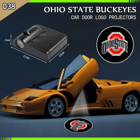 Ohio State Buckeyes 2PCS WIRELESS LED CAR DOOR PROJECTORS,  [product_collection], DEFINITE Sporting Goods, [product_tags]- DEFINITE Sporting Goods