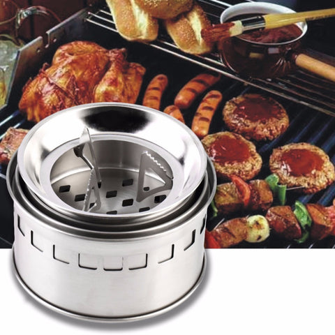 Portable Stainless Steel Camping Stove,  [product_collection], DEFINITE Sporting Goods, [product_tags]- DEFINITE Sporting Goods