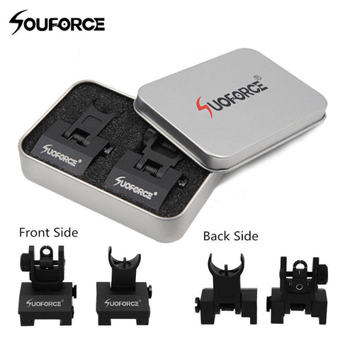 US Tactical Hunting Iron Low Flip Up Front & Rear Sight Set,  [product_collection], DEFINITE Sporting Goods, [product_tags]- DEFINITE Sporting Goods