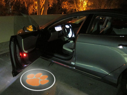 CLEMSON TIGERS 2 Pcs Wireless Led Door Projector,  [product_collection], DEFINITE Sporting Goods, [product_tags]- DEFINITE Sporting Goods