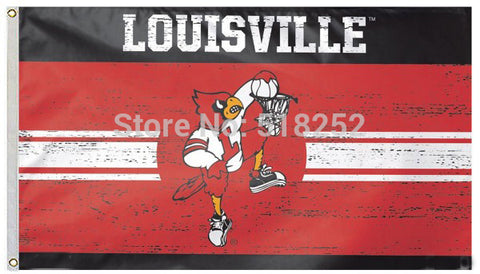 Louisville Cardinals Throwback Vintage NCAA Flag 3x5 FT,  [product_collection], DEFINITE Sporting Goods, [product_tags]- DEFINITE Sporting Goods