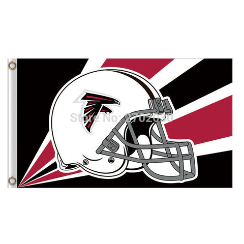 Helmet Atlanta Falcons Flag 3ft X 5ft,  [product_collection], DEFINITE Sporting Goods, [product_tags]- DEFINITE Sporting Goods