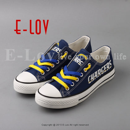 Los Angeles Chargers NFL Canvas Shoes,  [product_collection], DEFINITE Sporting Goods, [product_tags]- DEFINITE Sporting Goods