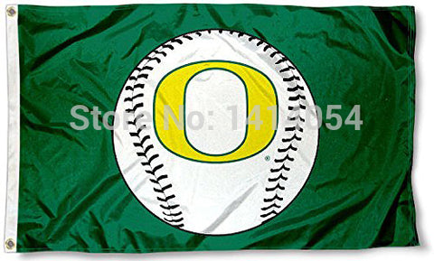 Oregon Ducks Baseball Flag  NCAA 3X5FT,  [product_collection], DEFINITE Sporting Goods, [product_tags]- DEFINITE Sporting Goods