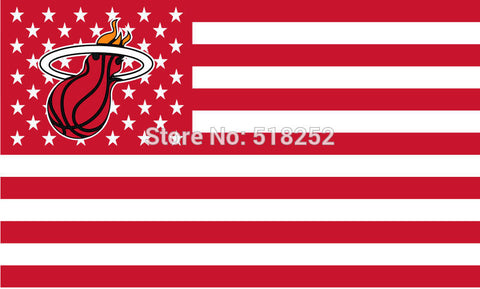 Miami Heat USA Flag 3x5 FT,  [product_collection], DEFINITE Sporting Goods, [product_tags]- DEFINITE Sporting Goods