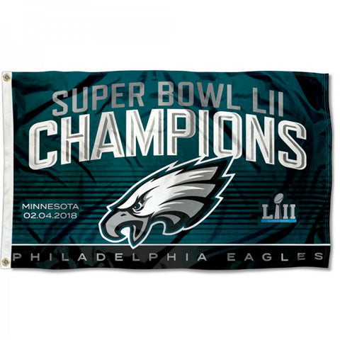Philadelphia Eagles Super Bowl LII 52 Champs Flag 3ft x 5ft,  [product_collection], DEFINITE Sporting Goods, [product_tags]- DEFINITE Sporting Goods