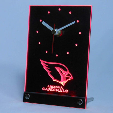 Arizona Cardinals 3D LED Clock,  [product_collection], DEFINITE Sporting Goods, [product_tags]- DEFINITE Sporting Goods