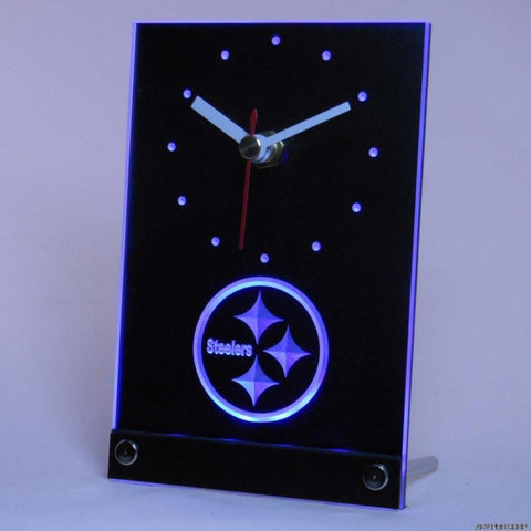 Pittsburgh Steelers 3D LED Clock,  [product_collection], DEFINITE Sporting Goods, [product_tags]- DEFINITE Sporting Goods