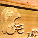 Atlanta Falcons Helmet 3D Wooden Bar Sign,  [product_collection], DEFINITE Sporting Goods, [product_tags]- DEFINITE Sporting Goods
