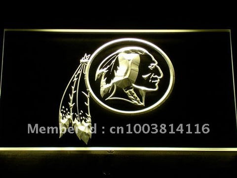 Washington Redskins Logo LED Neon Sign with 20+ Colors 5 Sizes to choose,  [product_collection], DEFINITE Sporting Goods, [product_tags]- DEFINITE Sporting Goods