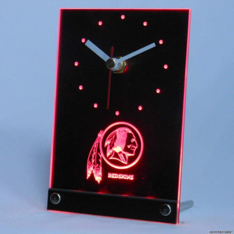 Washington Redskins 3D LED Clock,  [product_collection], DEFINITE Sporting Goods, [product_tags]- DEFINITE Sporting Goods