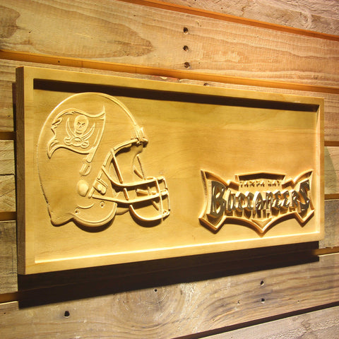 Tampa Bay Buccaneers Helmet 3D Wooden Bar Sign,  [product_collection], DEFINITE Sporting Goods, [product_tags]- DEFINITE Sporting Goods