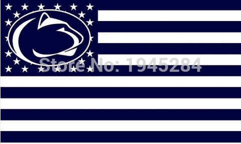 NCAA Penn State Nittany Lions USA Flag Banner New 3x5FT,  [product_collection], DEFINITE Sporting Goods, [product_tags]- DEFINITE Sporting Goods