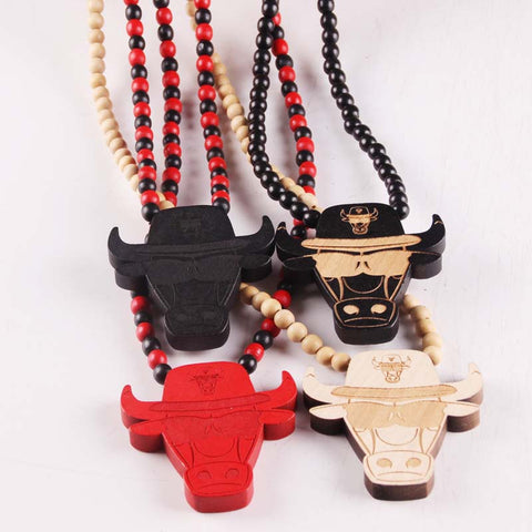 Rock Wood Chicago Bulls Necklace,  [product_collection], DEFINITE Sporting Goods, [product_tags]- DEFINITE Sporting Goods