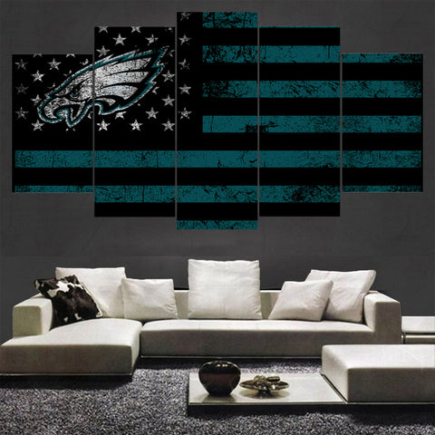 5 Pcs Sport Philadelphia Eagles Poster For Living Room Unframed And With Frame,  [product_collection], DEFINITE Sporting Goods, [product_tags]- DEFINITE Sporting Goods